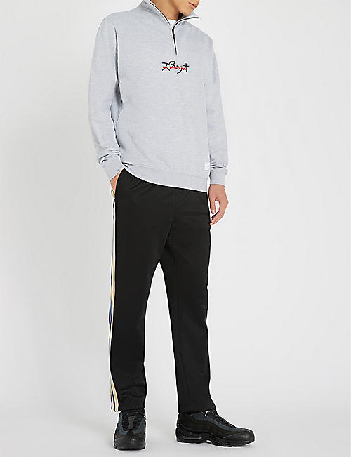 MKI MIYUKI-ZOKU Logo-embroidered cotton-blend sweatshirt
