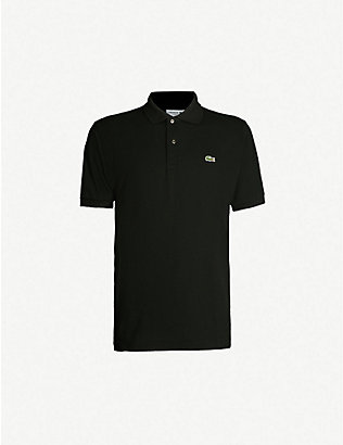 LACOSTE: Logo-embroidered cotton-piqué polo shirt