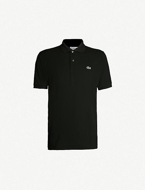 3d61ae154d32 LACOSTE Logo-embroidered cotton-piqué polo shirt