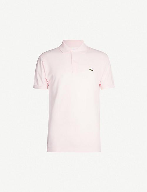 3421fd1e4b4c LACOSTE Logo-embroidered cotton-piqué polo shirt