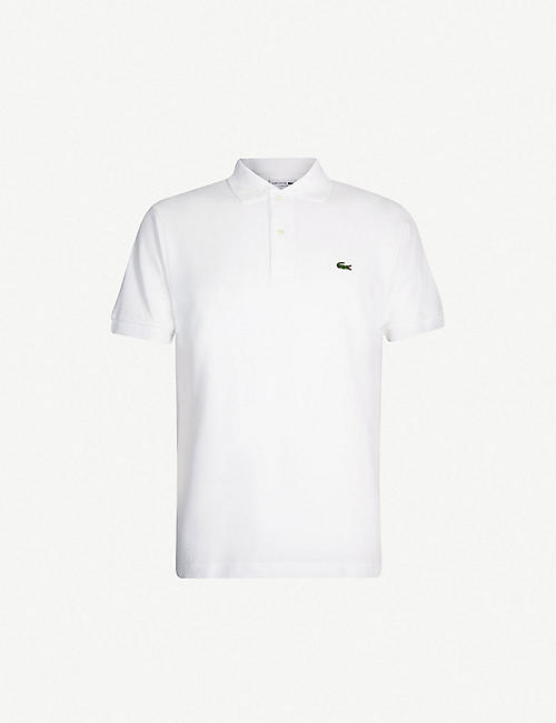 LACOSTE Logo-embroidered cotton-piqué polo shirt