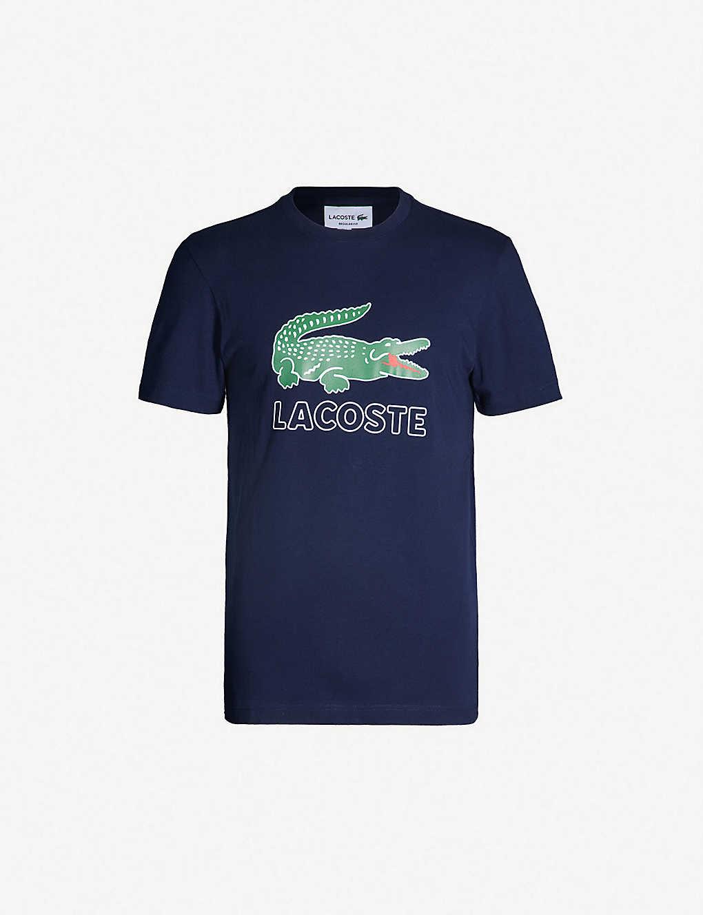 84a40685 LACOSTE - Logo-print cotton-jersey T-shirt | Selfridges.com