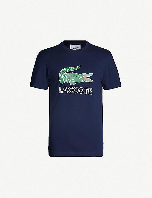 11c739a6c810 LACOSTE Logo-print cotton-jersey T-shirt