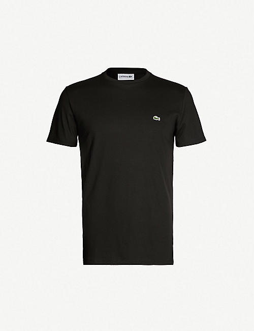 LACOSTE Logo-badge cotton-jersey T-shirt