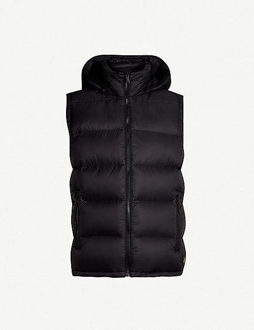 03505be3 MOOSE KNUCKLES Sleeveless shell-down hooded gilet