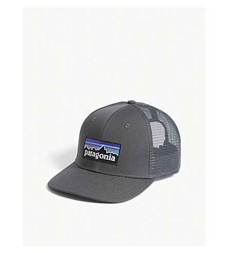 1d3538ec5b3 Patagonia P-6 Logo Trucker Cap In Forge Grey