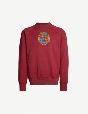 AIME LEON DORE Logo-embroidered cotton-jersey sweatshirt