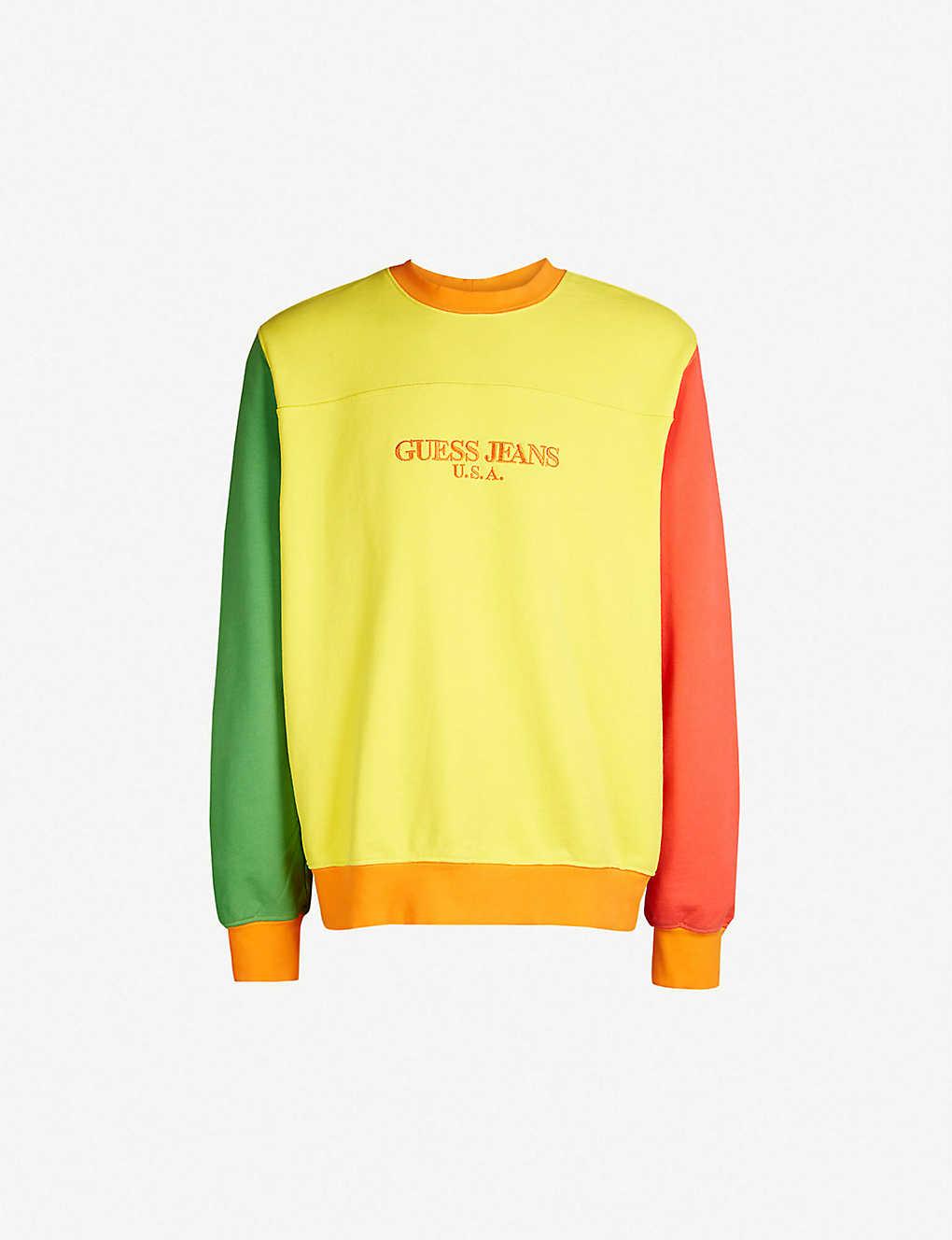 4528e3c9 GUESS JEANS USA - Farmers Market logo-embroidered cotton-jersey sweatshirt    Selfridges.com