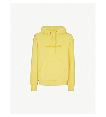 ... GUESS JEANS USA Farmers Market logo-embroidered cotton-jersey hoody  (Pineapple+yellow. PreviousNext 8f263aa70ead