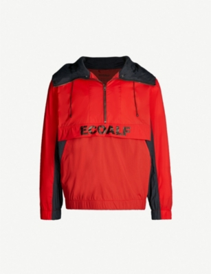 ECOALF Logo-print shell hooded jacket