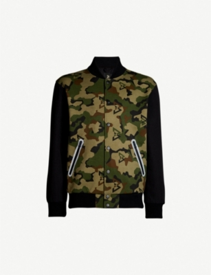 BEAST MODE Camouflage-print jersey and shell jacket