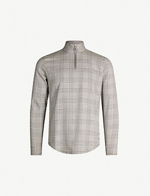 PREVU Checked jersey sweatshirt