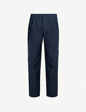 FOLK Assembly slim-fit straight-leg cotton trousers