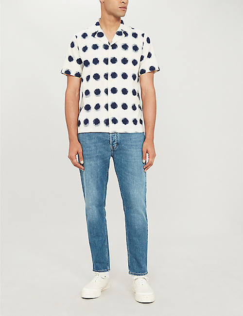 FOLK Polka-dot regular-fit cotton shirt