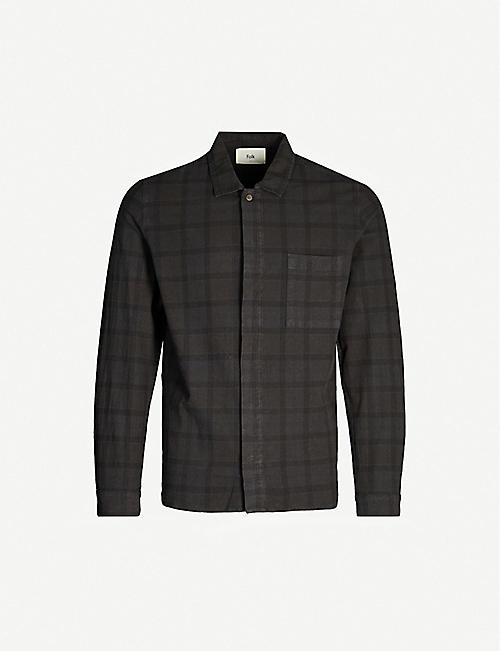 FOLK Checked classic-fit cotton shirt