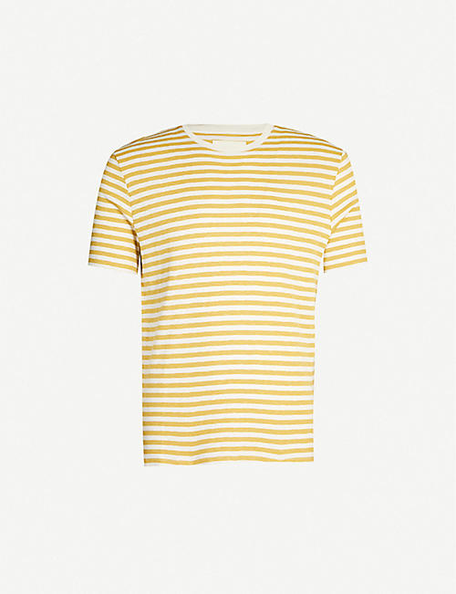 FOLK Crewneck striped cotton-jersey T-shirt