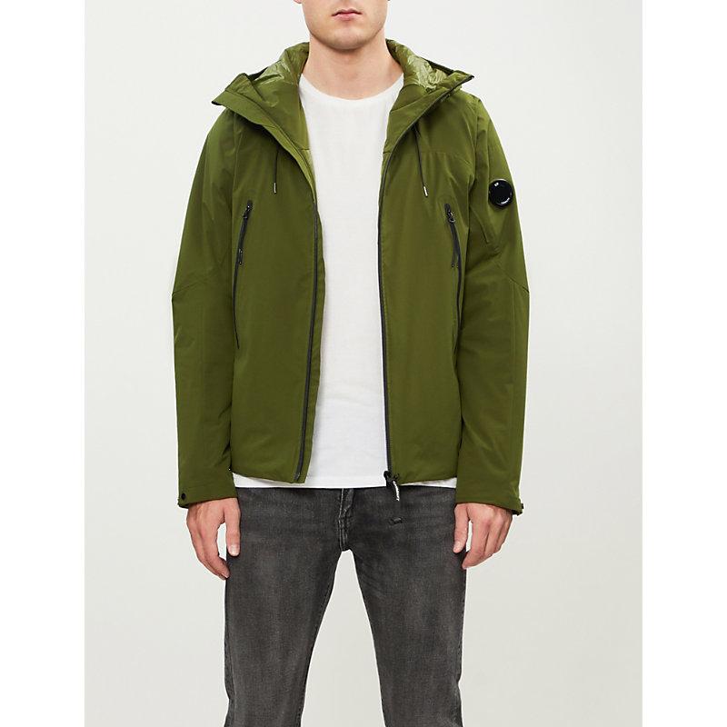 Cp Company Hooded Anorak Jacket - Green, Pea Green