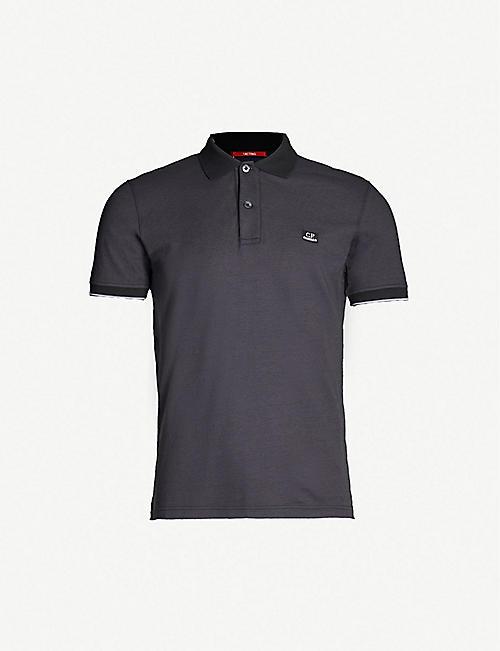 31d9b7818f4d7 CP COMPANY Slim-fit cotton-piqué polo shirt