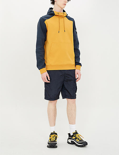 THE NORTH FACE Fine 2 colour-blocked cotton-jersey hoody