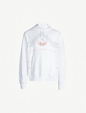 ADIDAS Kaval logo print cotton jersey hoody |