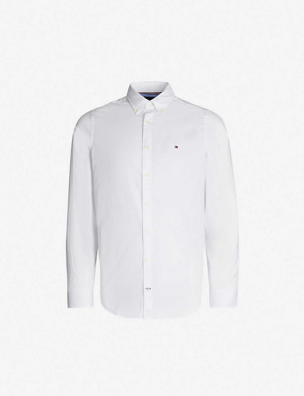 6f89dc7b TOMMY HILFIGER - Slim-fit stretch-cotton shirt | Selfridges.com