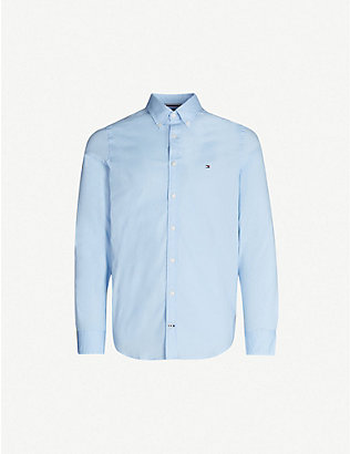 TOMMY HILFIGER: Slim-fit stretch-cotton shirt