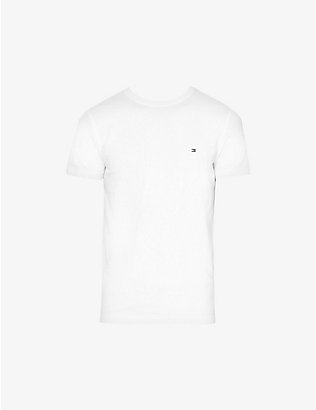 TOMMY HILFIGER: Logo-embroidered stretch-cotton T-shirt