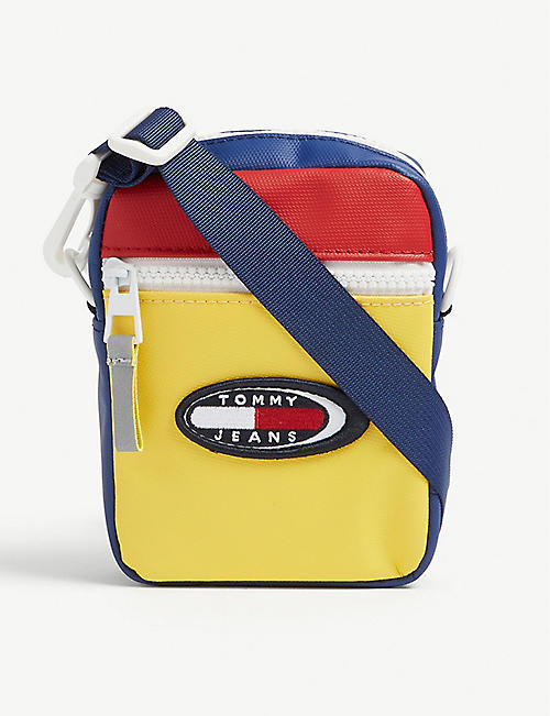TOMMY JEANS Logo-appliquéd shell cross-body bag