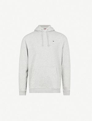 TOMMY JEANS Classics embroidered-logo cotton-blend hoody