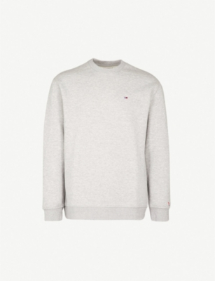 TOMMY JEANS Classics logo-embroidered cotton-blend sweatshirt