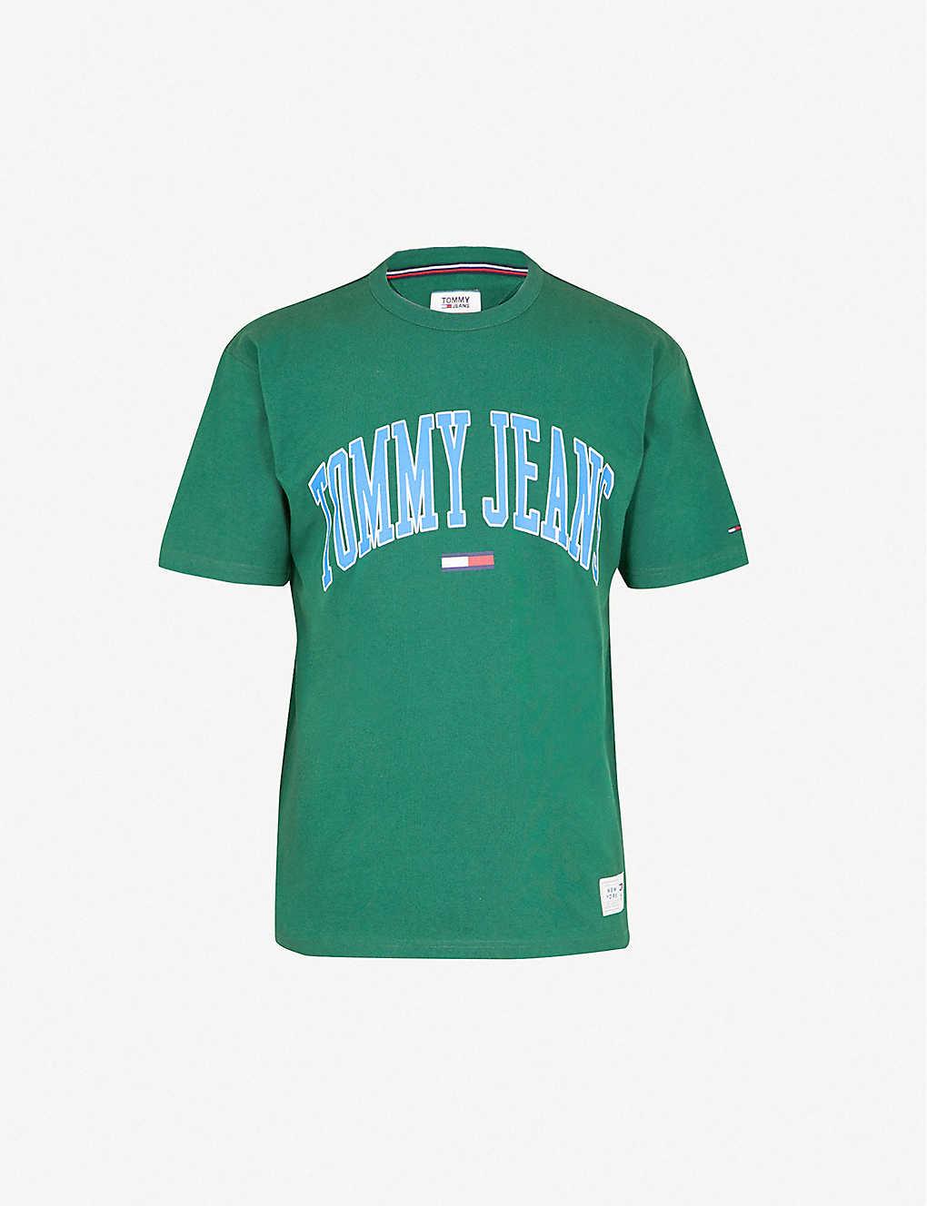a3f3dab7 TOMMY JEANS - Collegiate logo-print cotton-jersey T-shirt   Selfridges.com