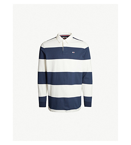 d7dab1bcadb TOMMY JEANS - Striped cotton-jersey rugby shirt | Selfridges.com