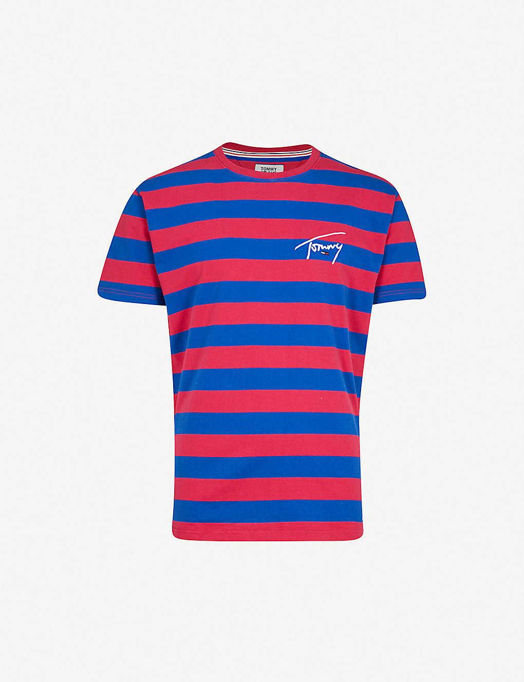 2037cb9335 TOMMY JEANS - Signature striped cotton-jersey T-shirt | Selfridges.com