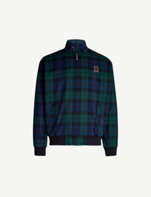 TOMMY JEANS Harrington checked cotton-blend jacket