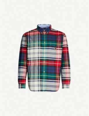 TOMMY JEANS Checked regular-fit cotton shirt