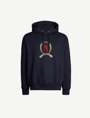 TOMMY JEANS Crest flag cotton-jersey hoody