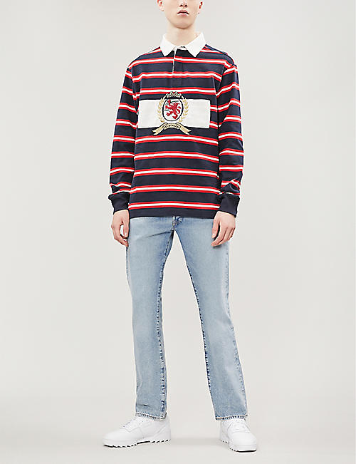 TOMMY JEANS Crest striped cotton rugby shirt