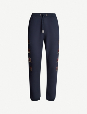 TOMMY JEANS Crest flag cotton-jersey jogging bottoms