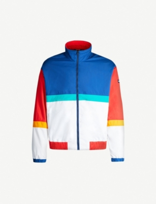 TOMMY JEANS Colour-blocked shell jacket