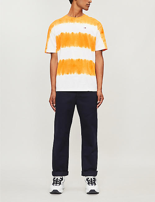 adf0bbc8 TOMMY JEANS Tie-dye stripe cotton-jersey T-shirt