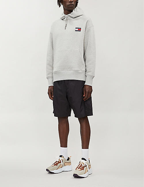 TOMMY JEANS Logo-appliqué cotton-jersey hoody