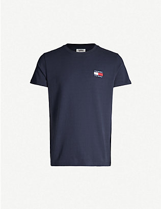TOMMY JEANS: Logo-appliqué cotton-jersey T-shirt