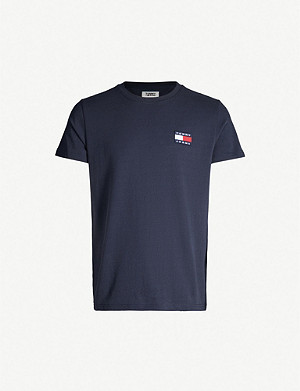 TOMMY JEANS Logo-appliqué cotton-jersey T-shirt