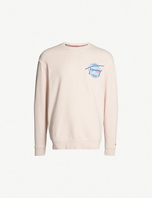 TOMMY JEANS Logo-print cotton sweatshirt