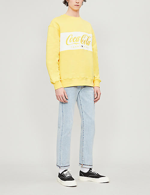 TOMMY JEANS Tommy x Coca Cola logo-print cotton-blend sweatshirt