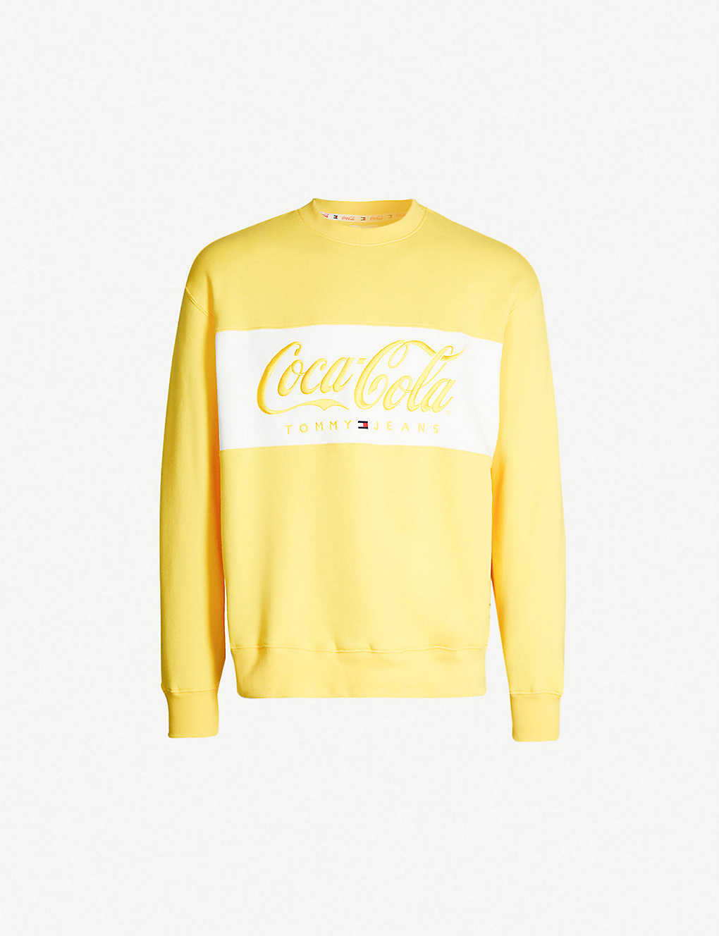 56beeac4cdd Tommy x Coca Cola logo-print cotton-blend sweatshirt - Primrose yellow ...