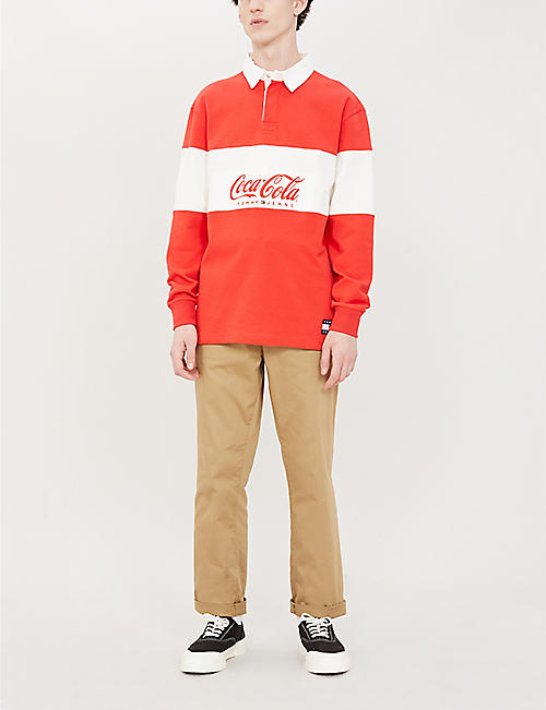 TOMMY JEANS Tommy Jeans x Coca Cola cotton rugby shirt
