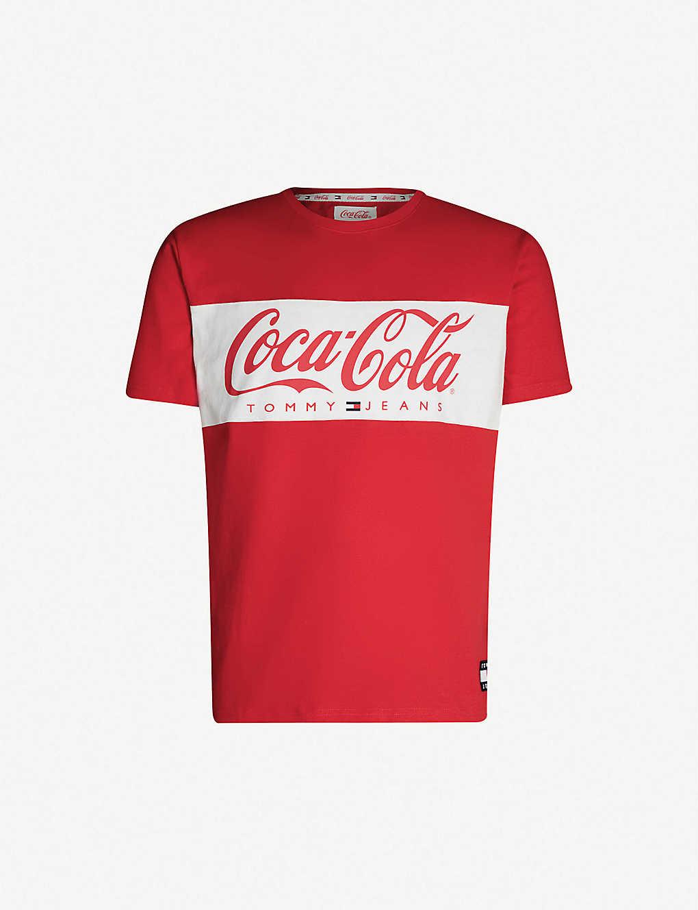 2bcf9d23b TOMMY JEANS - Tommy x Coca Cola cotton-jersey T-shirt | Selfridges.com