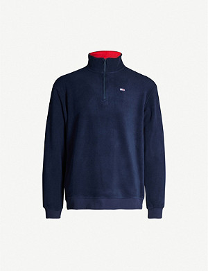 TOMMY JEANS Polar funnel-neck fleece jumper