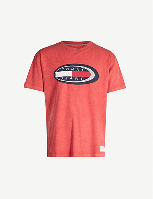 TOMMY JEANS Logo-print cotton-jersey T-shirt
